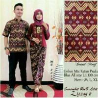 Jual Batik Kebaya Couple / Batik Sarimbit Zigzag Lilit Murah