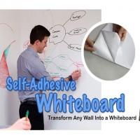 Jual WSwhite : Vinyl Removable Wallpaper Sticker | Wall Stiker WHITE Board Murah