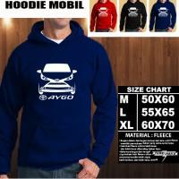 JAKET HOODIE OTOMOTIF MOBIL TOYOTA AYGO SILUET TD/Hoodie/Sweater