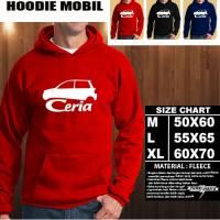 JAKET HOODIE OTOMOTIF MOBIL DAIHATSU CERIA SILUET TS/Hoodie/Sweater