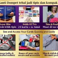 Dompet Ramping Super Tipis Isi 24 Kartu dan Uang Tunai -WW598