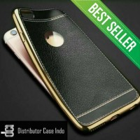 iPhone 7 / 7plus / 6 6s 6 plus 5 5s SE Luxury Leather Chrome Soft Case