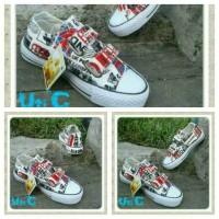 harga Sepatu Converse Anak Wanita/perempuan Model Perekat Motip London Tokopedia.com