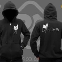 Jaket / Hoodie DJ Butterfly - Hitam
