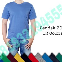 KAOS POLOS COTTON COMBED 30S LOKAL MADE IN INDONESIA