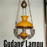 harga Lampu Gantung Kerek Antik R28 Kuning Kap Bergelombang Tokopedia.com