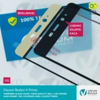 Jual Xiaomi Redmi 4 Prime Tempered Glass Color 2.5D Full Cover Murah
