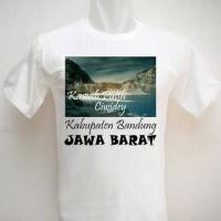 Kaos Oleh Oleh Souvenir Kawah Putih Ciwidey putih