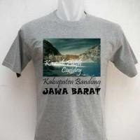 Kaos Oleh Oleh Souvenir Kawah Putih Ciwidey abu