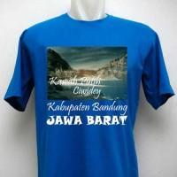 Kaos Oleh Oleh Souvenir Kawah Putih Ciwidey biru