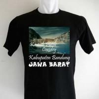 Kaos Oleh Oleh Souvenir Kawah Putih Ciwidey hitam