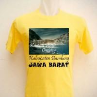 Kaos Oleh Oleh Souvenir Kawah Putih Ciwidey kuning