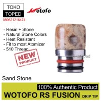 Authentic Wotofo RS Fusion 510 Drip Tip | 6 | driptip resin rda mod