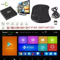 Jual Bundling TV Box Android 6 Marsmallow New-X96+Keyboard Mini Wireless Murah