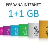 Kartu Perdana Internet Tri 3 Three Aon 1GB 1 GB Reguler 1 Tahun