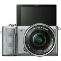 New Kamera Mirrorless Sony Alpha A5000 Silver Lensa Kit 16-50mm