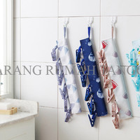 Gantungan Baju Kain Motif Shower, Crown Flower, Ikan Paus, Kotak - HHM426