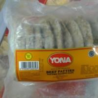 Jual YONA Beef Patties Daging Burger Grill Isi 10 Pcs Murah