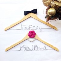 A3 At Last - Hanger Name Wedding Favor Personalized