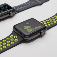 Apple Watch Series 2 Nike+ Sport Band / Strap Black Volt Silver Gray