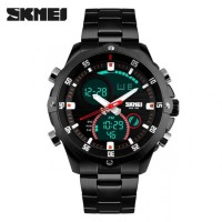 Jam Tangan Pria Original Skmei Casio Men Sport Led Waterproof Black
