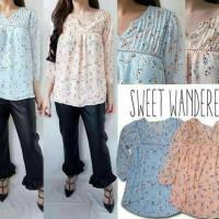 Baju Branded Murah Sweet Wanderer Peach Maternity Blouse Hamil Blouse