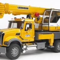 Mainan anak MACK Granite Liebherr crane truck - Bruder
