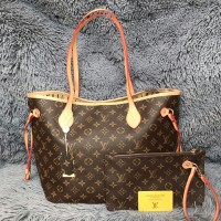 TAS WANITA BRANDED IMPORT LOUIS VUITTON / LV NEVERFULL PM LX MURAH