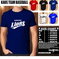 KAOS BAJU TSHIRT PAKAIAN OLAHRAGA BASEBALL Samsung Lions Logo 3