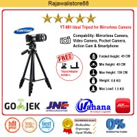 Yunteng Tripod VCT-681 - For Canon EOS M10/Sony A5000/5100/6000/X-A2