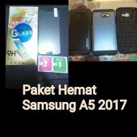 Paket Hemat Hardcase Samsung A5 2017 Slimarmor Spigen+TemperedGlass
