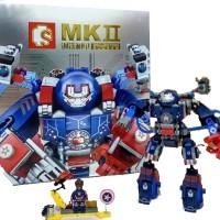 Jual lego kompatible captain america mecha robot iron patrion avenger Murah