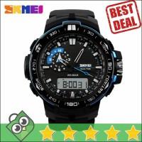 Jual Jam Tangan Pria Dual Time SKMEI Casio Men Sport LED Original AD1081 Murah