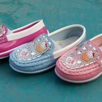Jual Sepatu Anak Karet Hello Kitty Pantofel Diamond Children Murah Grosir Murah