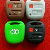Silikon Remote kunci Toyota Harrier,Alphard,Prado,Rav,model 3 tombol