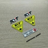 Sticker / stiker Set Visor Helm Emergency safety concept KYT