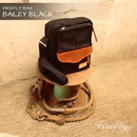 Jual FIrefly Bailey Black Tas Selempang Pria Army Sling Bag Kanvas Murah Murah