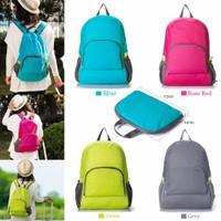 Tas Ransel Lipat Punggung Foldable Backpack Serbaguna Sekolah Bag Bags