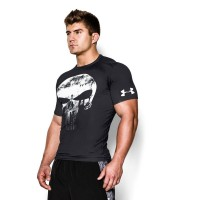 BAJU KAOS GYM PRIA SKULL PUNISHER TENGKORAK UNDER ARMOUR BASELAYER RUN