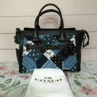Coach swagger 27 patchwork jeans denim