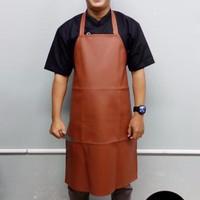 APRON / CELEMEK PVC (Synthetic Leather) COKLAT Terlaris