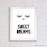 Poster Lucu - Sweet Dreams - Dekorasi Kamar Anak