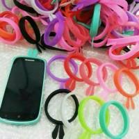 Jual ring case bunny bumper rubber glow cover kelinci mickey Hello Kitty OK Murah