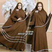 11181 AYANA SYARI COKLAT TUA Baju Muslimah Syar'i Clothing