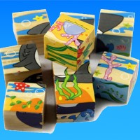 Mainan Edukatif / Edukasi Anak Puzzle Balok Kayu Hewan Ternak 6 in 1