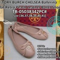 Sepatu Wanita Tory Burch CHELSEA Ballerina Flat Leather TB-05038342PC#