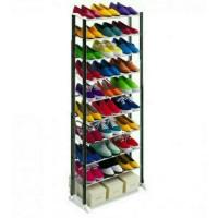 Jual RAK SEPATU Aluminium 10 Susun 30 Pasang Sandal & Sepatu Murah