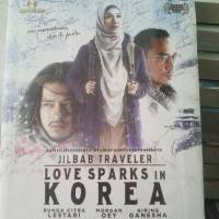 Novel Love Sparks in Korea. Seri Jilbab Traveler
