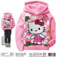 sweater anak hello kitty domo hodie kids du