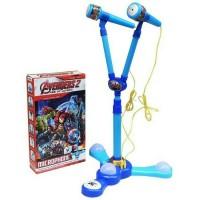 Mainan Anak - Mic Microphone Avengers 2 Double Stand Karaoke MP3 musik